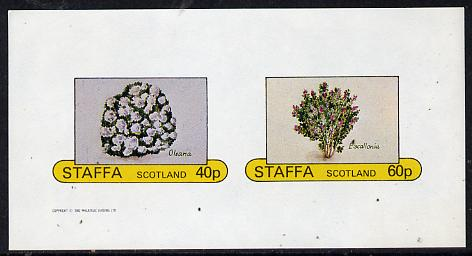 Staffa 1982 Flowers #05(Olearia & Escallonia) imperf  set of 2 values (40p & 60p) unmounted mint