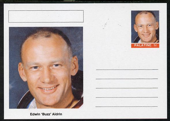 Palatine (Fantasy) Personalities - Edwin 'Buzz' Aldrin (astronaut) postal stationery card unused and fine