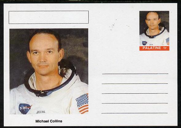 Palatine (Fantasy) Personalities - Michael Collins (astronaut) postal stationery card unused and fine