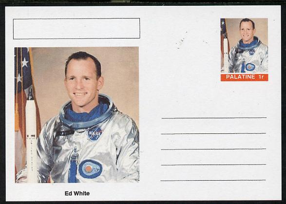 Palatine (Fantasy) Personalities - Ed White (astronaut) postal stationery card unused and fine