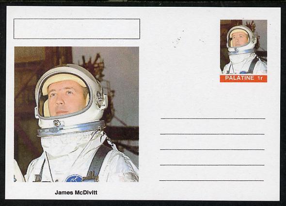 Palatine (Fantasy) Personalities - James McDivitt (astronaut) postal stationery card unused and fine
