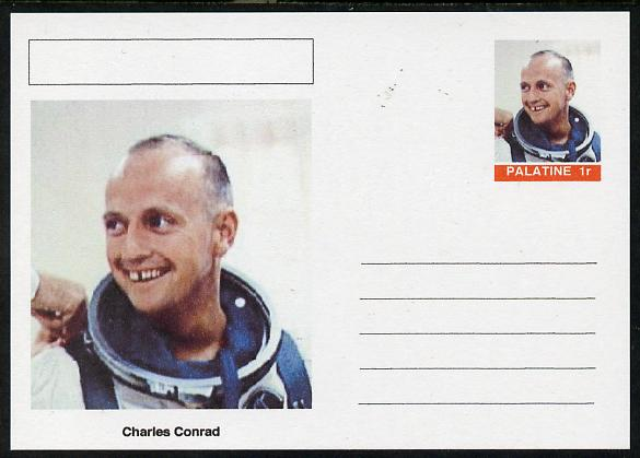 Palatine (Fantasy) Personalities - Charles Conrad (astronaut) postal stationery card unused and fine