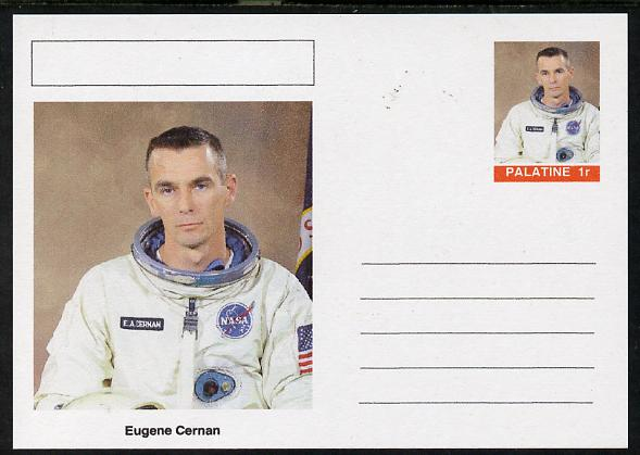 Palatine (Fantasy) Personalities - Eugene Cernan (astronaut) postal stationery card unused and fine