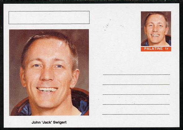 Palatine (Fantasy) Personalities - John 'Jack' Swigert (astronaut) postal stationery card unused and fine