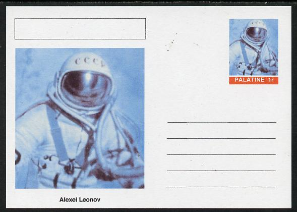 Palatine (Fantasy) Personalities - Alexei Leonov (astronaut) postal stationery card unused and fine