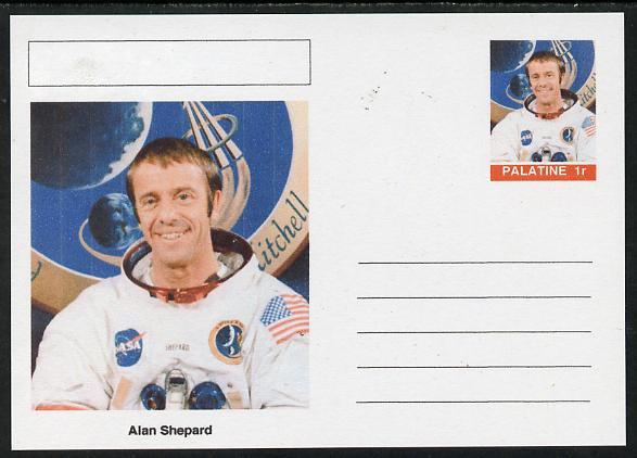 Palatine (Fantasy) Personalities - Alan Shepard (astronaut) postal stationery card unused and fine