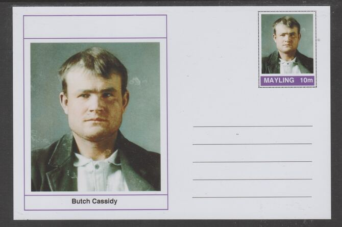 Mayling (Fantasy) Wild West - Butch Cassidy glossy postal stationery card unused and fine