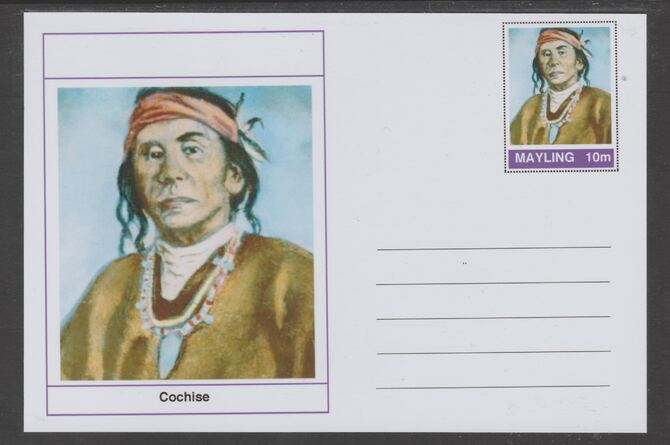 Mayling (Fantasy) Wild West - Cochise glossy postal stationery card unused and fine