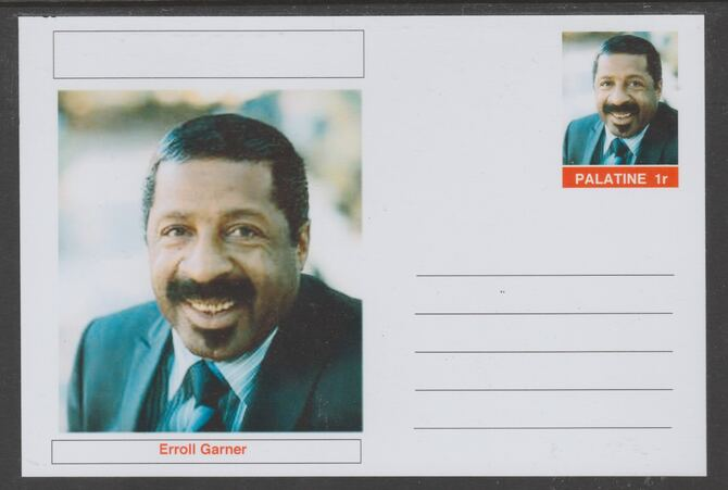 Palatine (Fantasy) Personalities - Erroll Garner glossy postal stationery card unused and fine