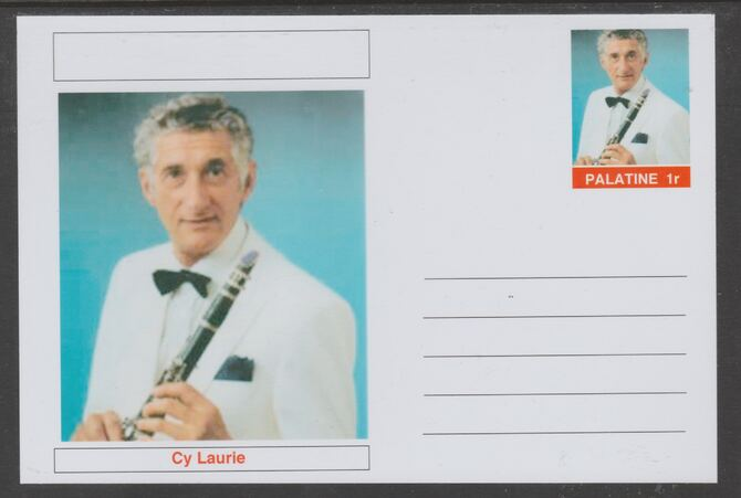 Palatine (Fantasy) Personalities - Cy Laurie glossy postal stationery card unused and fine