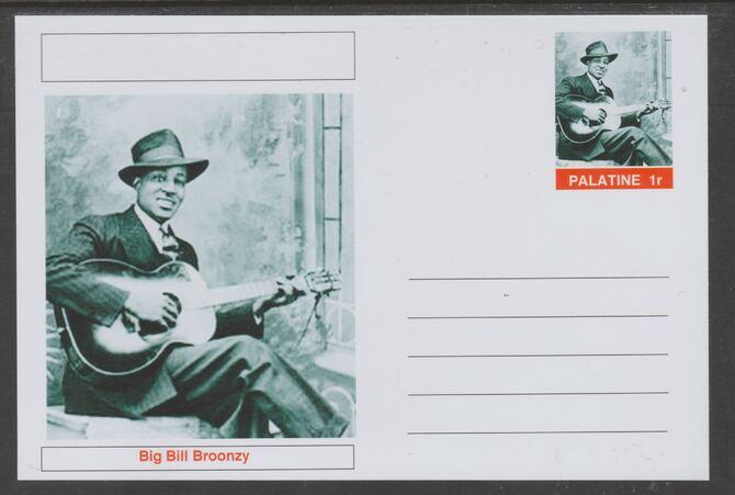 Palatine (Fantasy) Personalities - Big Bill Broonzy glossy postal stationery card unused and fine