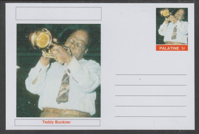 Palatine (Fantasy) Personalities - Teddy Buckner glossy postal stationery card unused and fine