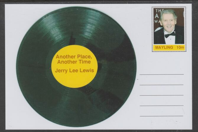 Mayling (Fantasy) Greatest Hits - Jerry Lee Lewis - Another Place, Another Time - glossy postal stationery card unused and fine