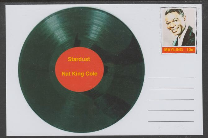 Mayling (Fantasy) Greatest Hits - Nat King Cole - Stardust - glossy postal stationery card unused and fine