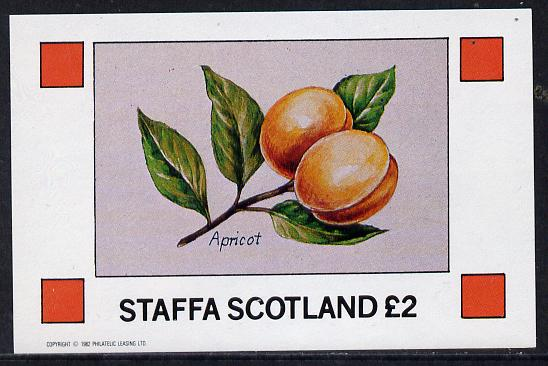 Staffa 1982 Fruits (Apricot) imperf deluxe sheet (�2 value) unmounted mint