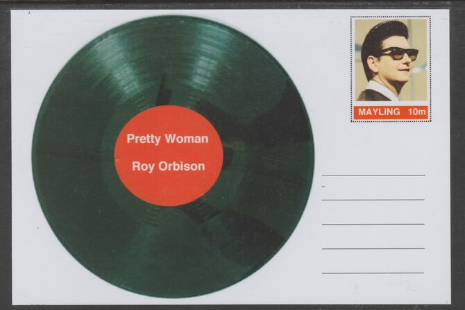 Mayling (Fantasy) Greatest Hits - Roy Orbison - Pretty Woman - glossy postal stationery card unused and fine