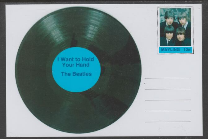 Mayling (Fantasy) Greatest Hits - The Beatles - I Want to Hold Your Hand - glossy postal stationery card unused and fine
