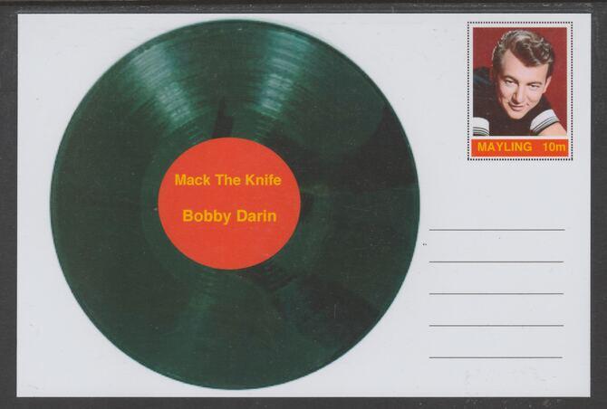 Mayling (Fantasy) Greatest Hits - Bobby Darin - Mack the Knife - glossy postal stationery card unused and fine