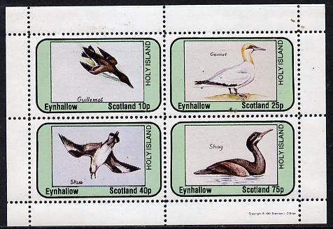 Eynhallow 1981 Sea Birds (Guillemot, Gannet, Skua & Shag) perf  set of 4 values (10p to 75p) unmounted mint