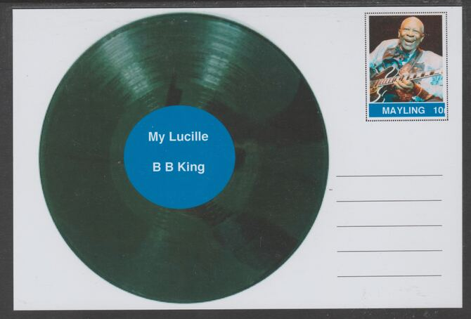 Mayling (Fantasy) Greatest Hits - B B King - My Lucille - glossy postal stationery card unused and fine