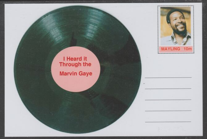 Mayling (Fantasy) Greatest Hits - Marvin Gaye - I Heard it Through the Grapevine - glossy postal stationery card unused and fine
