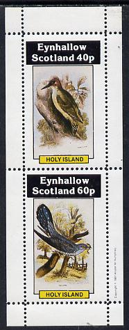 Eynhallow 1981 Birds #02 (Green Woodpecker & Cuckoo) perf  set of 2 values (40p & 60p) unmounted mint