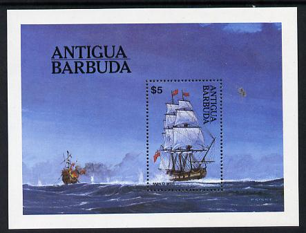 Antigua 1984 Ships $5 m/sheet unmounted mint, SG MS 834