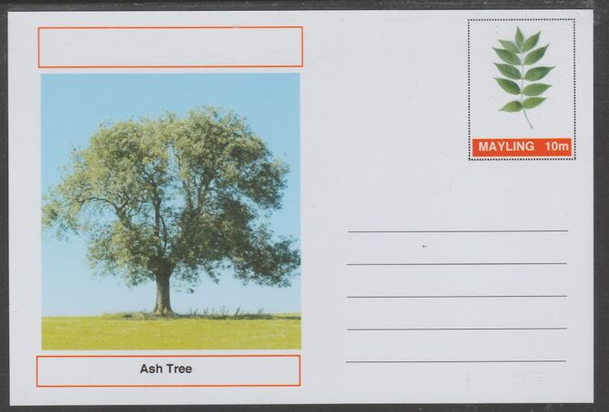 Mayling (Fantasy) Trees - Ash - glossy postal stationery card unused and fine