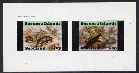 Bernera 1982 Animals (Badger & Otter) imperf  set of 2 values (40p & 60p) unmounted mint
