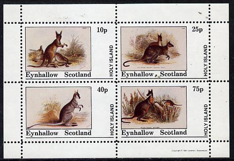 Eynhallow 1981 Wallabys perf  set of 4 values (10p to 75p) unmounted mint