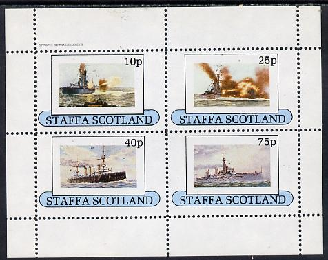 Staffa 1982 Battleships perf  set of 4 values (10p to 75p)  unmounted mint
