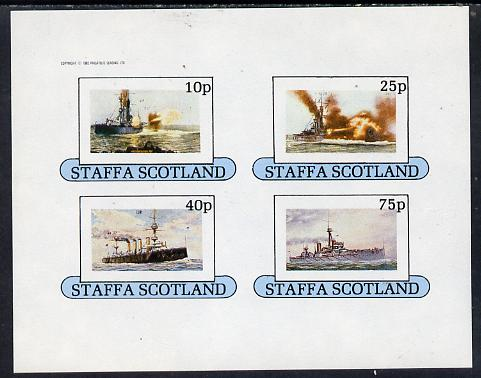 Staffa 1982 Battleships imperf  set of 4 values (10p to 75p) unmounted mint