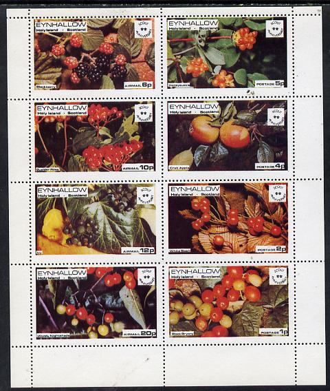 Eynhallow 1974 Fruit (Scout Anniversary) perf  set of 8 values (1p to 20p) unmounted mint