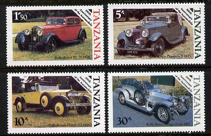 Tanzania 1986 Centenary of Motoring perf set of 4 unmounted mint SG 456-9*