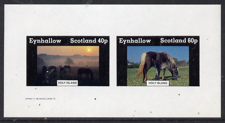 Eynhallow 1982 Horses #3 imperf  set of 2 values (40p & 60p) unmounted mint