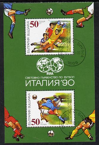 Bulgaria 1990 Football World Cup perf m/sheet cto SG MS 3679 (Mi BL 209A)