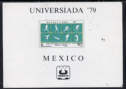 Mexico 1979 'Universiada '79' University Games imperf m/sheet depicting various Sports, SG MS 1520 unmounted mint