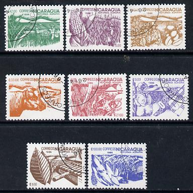 Nicaragua 1986 Agrarian Reform cto set of 8 (various products inscribed 1986) SG 2755-62*