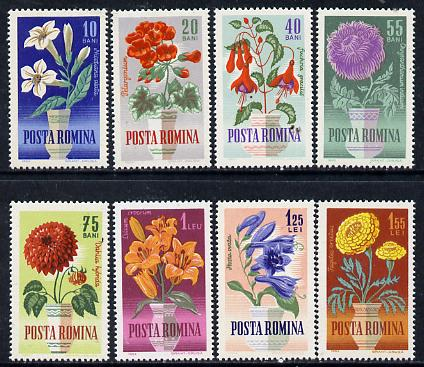 Rumania 1964 Rumanian Flowers set of 8 unmounted mint, SG 3134-4, Mi 2268-75