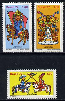 Brazil 1977 Folklore set of 3, SG 1673-75 unmounted mint*