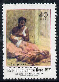 Brazil 1971 Emancipation of Slavery unmounted mint SG 1330