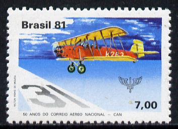 Brazil 1981 50th Anniversary of National Airmail Service unmounted mint, SG 1905