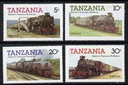 Tanzania 1985 Railways (1st Series) set of 4  (SG 430-3) unmounted mint