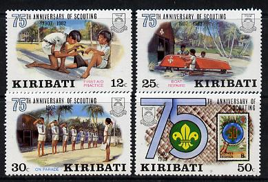 Kiribati 1982 75th Anniversary of Scouting set of 4 vals unmounted mint, SG 189-92 (gutter pairs available - price x 2)