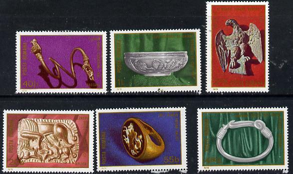 Rumania 1978 Roman Archaeology set of 6, Mi 3548-53