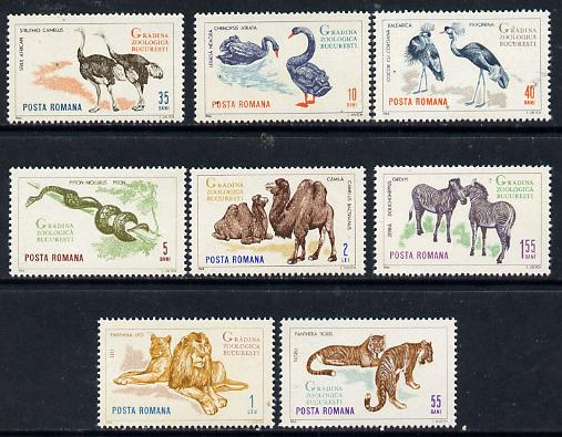 Rumania 1964 Bucharest Zoo set of 8 unmounted mint, SG 3197-3204,  Mi 2330-37