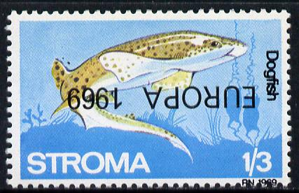 Stroma 1969 Fish 1s3d (Dogfish) perf single with 'Europa 1969' opt inverted unmounted mint*