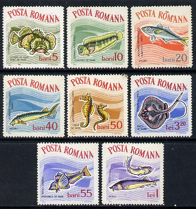 Rumania 1964 Constantza Aquarium set of 8 fish unmounted mint, SG 3146-53,  MI 2280-87*