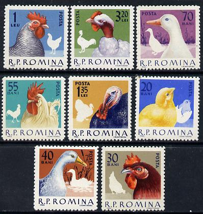 Rumania 1963 Domestic Poultry set of 8 unmounted mint, Mi 2145-52, SG 3012-19*
