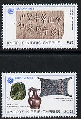 Cyprus 1983 Europa set of 2 (Relics). SG 602-03*